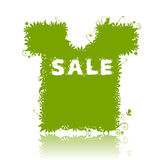 Flotal t-shirt, summer sale. Stock Photography