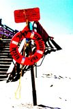 Flotation device. At the Cavendish beach stock image