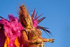 Flote al bailarín de la samba del coche, uno de los caracteres principales Fotos de archivo libres de regalías