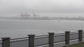 Flote la salida plana, puerto 4K UHD de Vancouver almacen de video