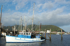 Flotille de la pêche de Greymouth Photographie stock libre de droits