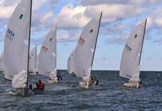 Flotille von laufenden Booten Lizenzfreies Stockbild