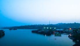 Floting hus Arkivbild