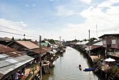 floting marknad thailand för amphawa Royaltyfria Foton