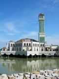 flottörhus ömalaysia moské penang Arkivbilder