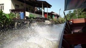 flottörhus marknad thailand Den traditionella marknaden på vattnet i Bangkok arkivfilmer