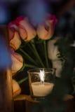 Flottörhus stearinljus Arkivfoto