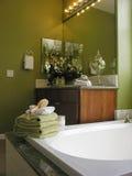 flott badrum royaltyfria bilder