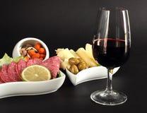 flott glass rött vin royaltyfri fotografi