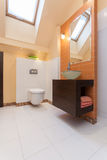 Flott hus - badrum royaltyfri foto