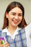 Flott kvinnlig student arkivfoto
