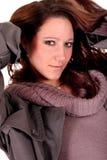 flott le kvinna för brunett arkivfoton
