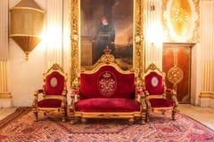 Flott rum i Mohamed Ali Palace i Kairo, Egypten arkivfoto
