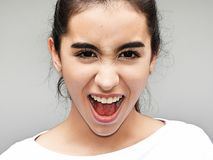 Flott tonårs- kvinnlig fotografering för bildbyråer