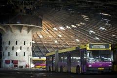 Flotta abbandonata del bus Fotografie Stock Libere da Diritti