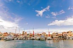 Flotta av den Aegina ön Arkivbild