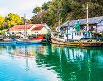 Flotta del granchio del porto di Noyo Immagini Stock Libere da Diritti