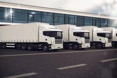 Flotta di camion Immagini Stock