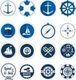 Flotta- och havslogosamling vektor illustrationer