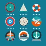 Flotta och turismbakgrund Arkivfoto