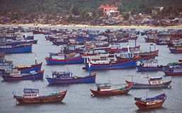 Flotta peschereccia di pesca vietnamita Fotografia Stock Libera da Diritti