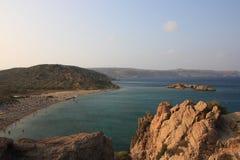 FlottaPalm Beach Kreta Arkivfoto