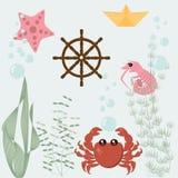Flottauppsättning vektor illustrationer