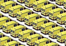 Flotte d'ambulance Images libres de droits