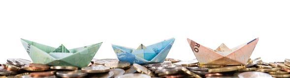 Flotte d'euro bateaux Photo stock