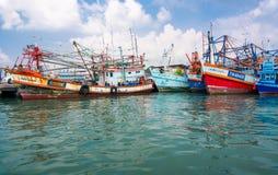Flotte de Fishiing image libre de droits