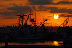 Flotte de pêche Photographie stock