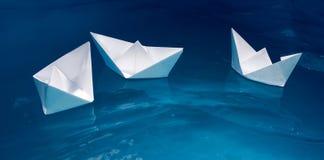 Flotte de papier de bateau photo stock