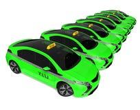 Flotte de taxi d'Eco Illustration de Vecteur