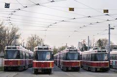 Flotte de tramway de TTC en grève Image stock