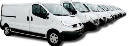 Flotte de véhicule commercial Photo libre de droits