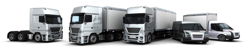 Flotte de véhicules de distribution Image libre de droits