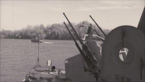 Flotte der Marine im Kriegsgebiet stock footage