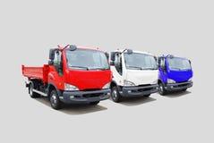 Flotte des LKW Stockbild