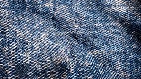 Flottement bleu texturisé de tissu de denim Mouvement animé de la toile Animation de fond des jeans flottant dans illustration stock