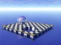 flottement d'échecs de panneau Illustration de Vecteur
