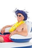Flottement dans la chaise dans la piscine Image libre de droits