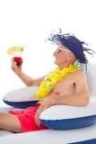 Flottement dans la chaise dans la piscine Photographie stock libre de droits