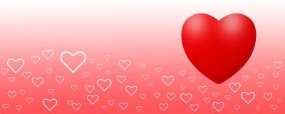 Flottement de coeurs d'amour Photos libres de droits