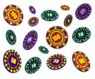 Flottement de puces de casino illustration de vecteur