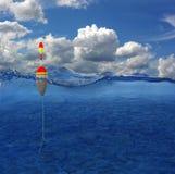 Flotteur dans l'eau Photo stock