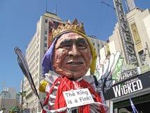 Flotteur de Bush au rassemblement pacifiste Photographie stock libre de droits