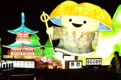Flotteur de lanterne sous forme de moine bouddhiste Photo stock