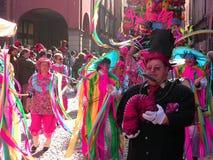 Flotteur 2 de Ribelli de carnaval d'organisation du traité central Photo stock