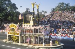 Flotteur de Showboat d'Arcadie en Rose Bowl Parade, Pasadena, la Californie Image libre de droits