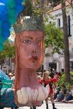 Flotteur de sirène dans le défilé de solstice de Santa Barbara Photo stock